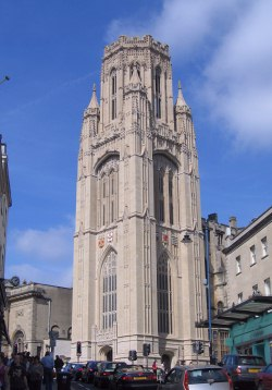 The Wills Memorial Tower, The University Of Bristol