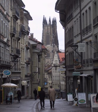 View of Fribourg Cathedral.