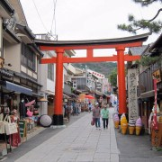 A torii marking the way to Fushimi Inari-taisha.