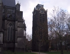 The cathedral's bell tower