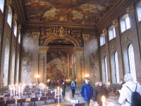 Painted hall at the Naval College