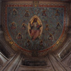 Painted ceiling of the sanctuary