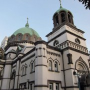 The Orthodox cathedral.
