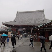 Senso-ji (a temple including a shrine) in Asakusa.