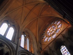 Rose window of the south transept.