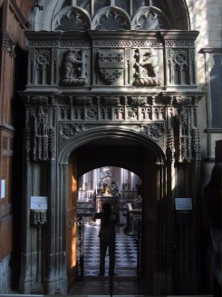 Entrance to the Beauchamp Chapel